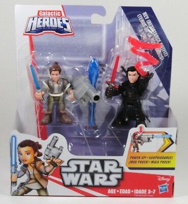 New Playskool Star Wars Galactic Heroes Rey And Kylo Ren For Kids Ages 3-7 - Star Wars For Kids