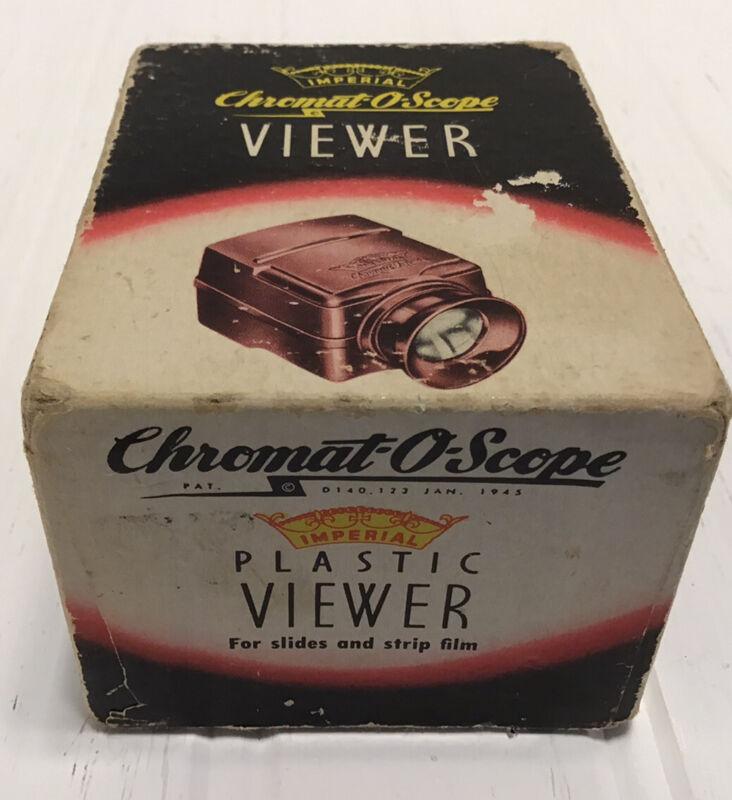 Vintage 1945 Imperial Chromat-O-Scope Slide Viewer For Slides & Strip Film