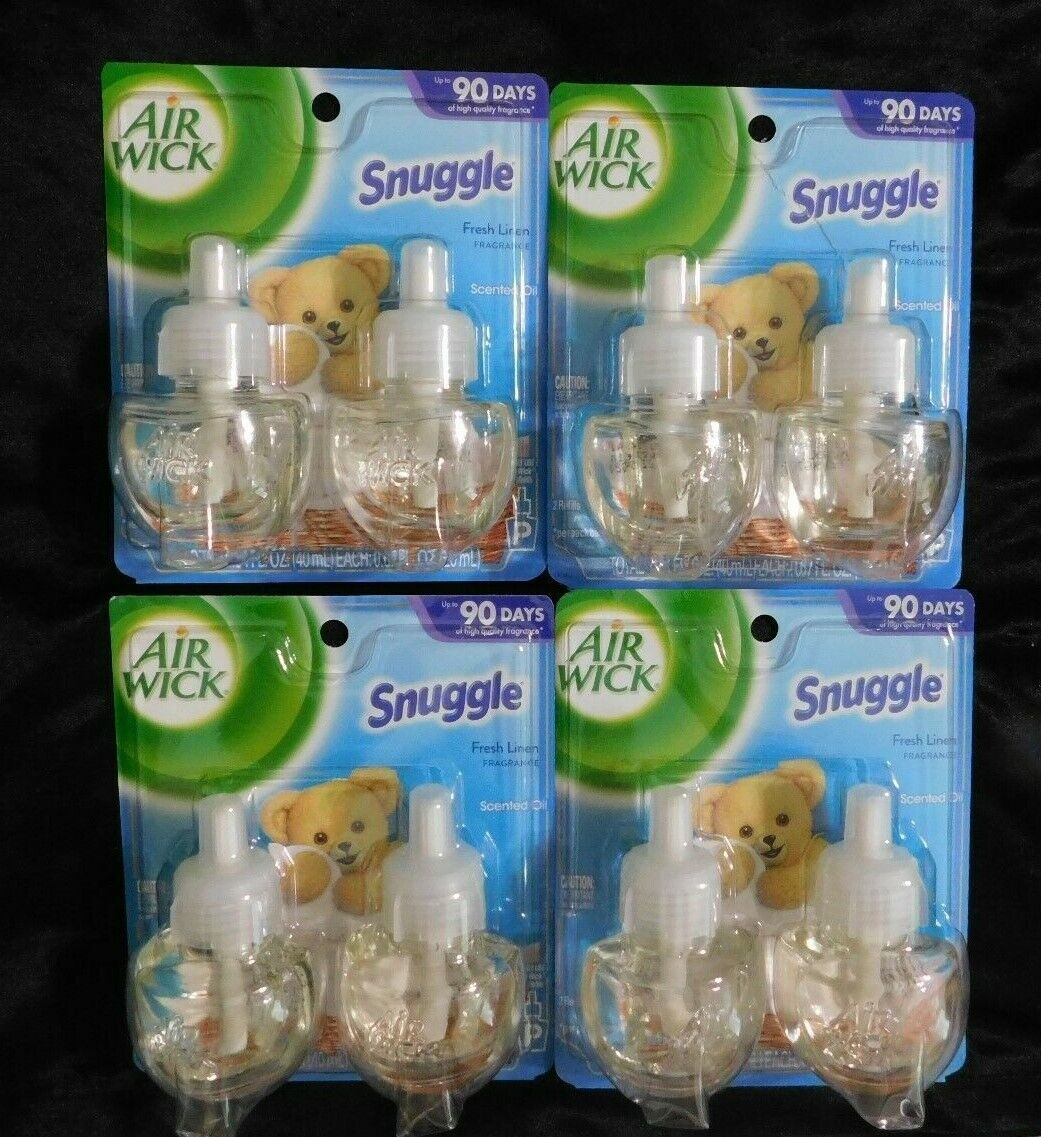 8 Air Wick Scented Oil Refills Snuggle Fresh Linen Scent 0.6