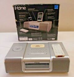 iHome iP9 AM/FM Clock Radio iPod Docking Station with Power Adapter With REMOTE