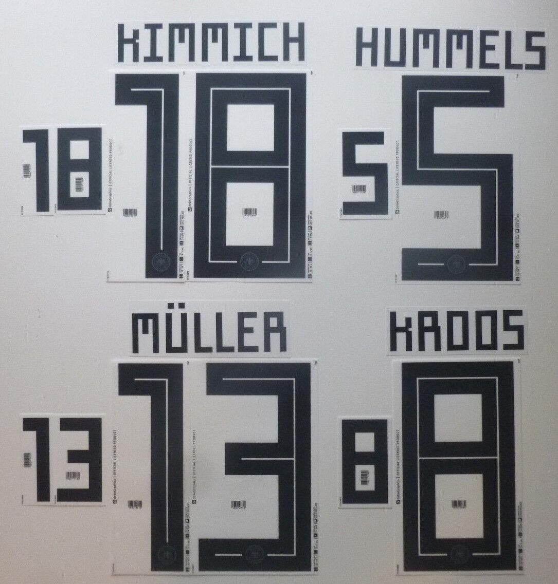 Set Flock Nameset Home Trikot Deutschland jersey shirt Germany 2018