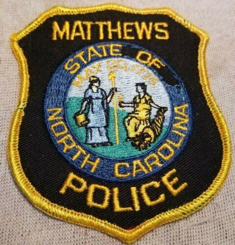 NC Matthews North Carolina Police Patch