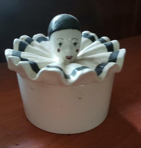 VINTAGE CLOWN DRESSER JAR