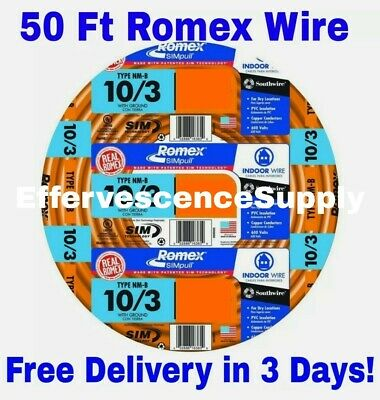 103 Wground Romex Indoor Electrical Wire 50 Feet Read Description