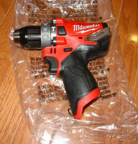 "Brand New Milwaukee 2504-20 M12 12v FUEL Brushless 1/2"" Hammer Drill Tool-Only"