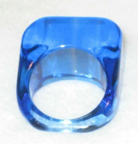 Lucite Blue Translucent Ring Size 7 & 1/2