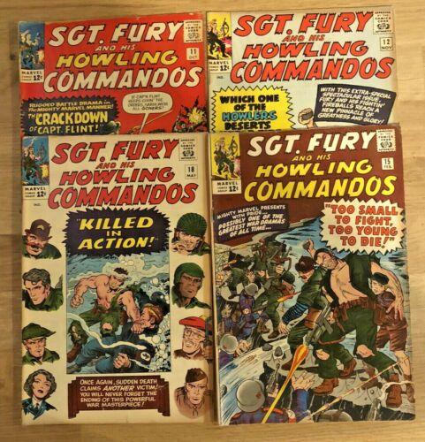 Sgt. Fury and His Howling Commandos Lot #11, 12, 15, 18 Marvel Comics