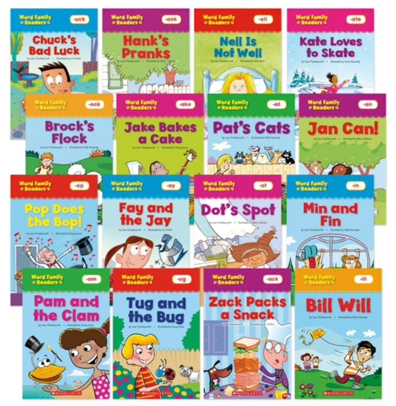 16 Word Family Readers by Scholastic (pb)  - Top 16 Word Families NEW