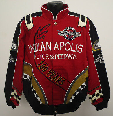 INDIANAPOLIS MOTOR SPEEDWAY JACKET LARGE INDY 500 RACING 100TH ANNIVERSARY NEW