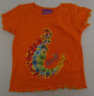 POWERPUFF GIRLS YOUTH SHIRT GIRL BLOSSOM BUBBLES BUTTERCUP CARTOON PPG ORANGE