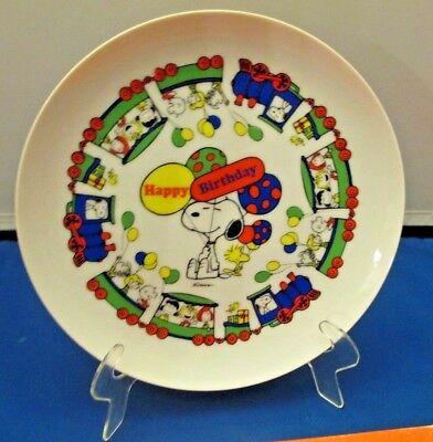 Vintage Snoopy Happy Birthday Charlie Brown 1966 Peanuts Plate in - Charlie Brown Birthday