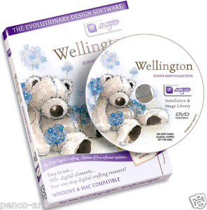 Docrafts-disc-Wellington-bear-sunny-days-collection-CD-Rom-Digital-designer-DVD