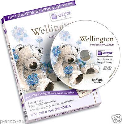 Docrafts disc Wellington bear sunny days collection CD Rom. Digital designer DVD