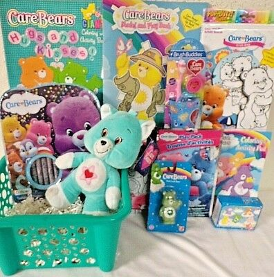 NEW CARE BEARS EASTER TOY GIFT BASKET BIRTHDAY TOYS PLUSH PLAY SET ART SUPPLIES](Spiderman Easter Basket)
