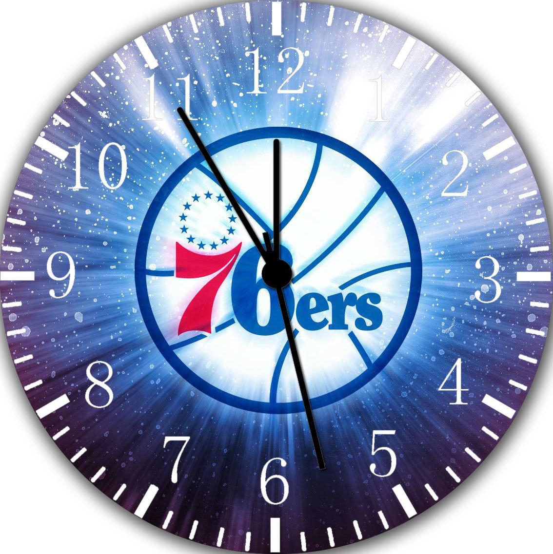 76ers Frameless Borderless Wall Clock Nice For Gifts or Decor E273