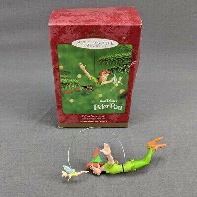 Hallmark Keepsake Christmas ornament Walt Disney's Peter Pan Off to Neverland