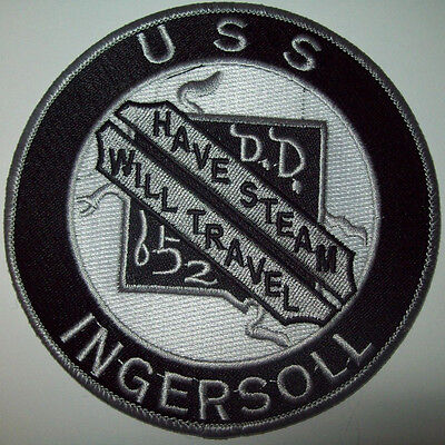 US NAVY DD-652 USS INGERSOLL - HAVE STREAM WILL TRAVEL DESTROYER MILITARY PATCH