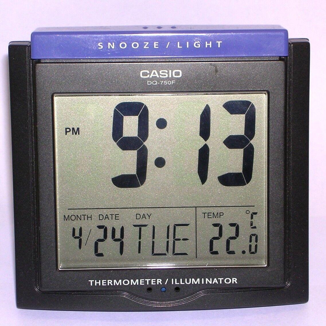 Casio DQ-750F-1D Digital Alarm Clock