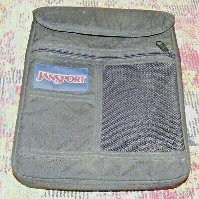 Jansport Binder Bag Folder Paper School Work College Vintage Zipper Black Canvas