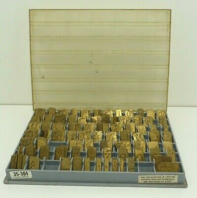New Hermes 35-304 Old No. 4 Engraving Font In Case - 229 Total Pieces