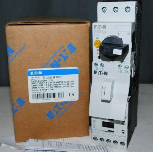 NEW EATON XTSC2P5BBT XT IEC FVNR Manual Motor Controller 24V Coil, 1.6-2.5A