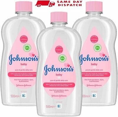 JOHNSON'S Baby Oil Multipack Leaves Skin Soft & Smooth for Delicate Skin 3x500ml