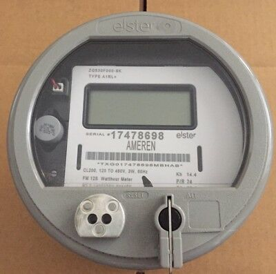 Elster Watthour Meter Kwh Alpha A3t Fm12s 200a 5 Lug 3wire 120v - 480v
