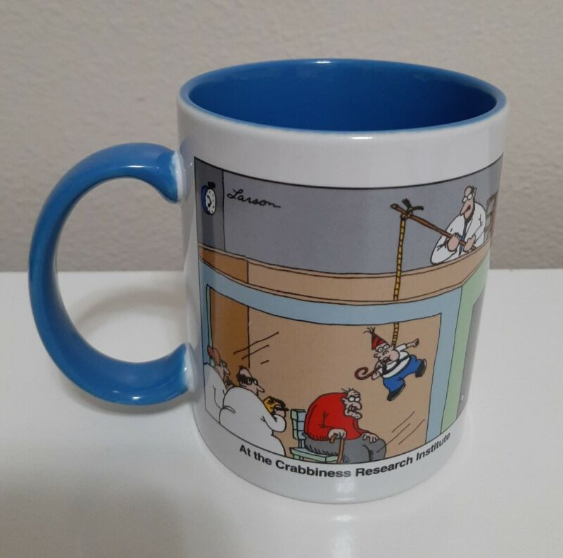Vtg Far Side Mug At The Crabbiness Research Institute 10 oz Andrews McMeel 1998