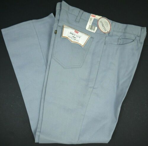 Vintage 80s Levis NOS 517 Gray Pants Boot Cut Mens 42x32 Gold Tab NWT Deadstock
