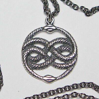 Auryn necklace pendantebay auryn pendant necklace in sterling silver ouroboros neverending story snake 233 mozeypictures Choice Image
