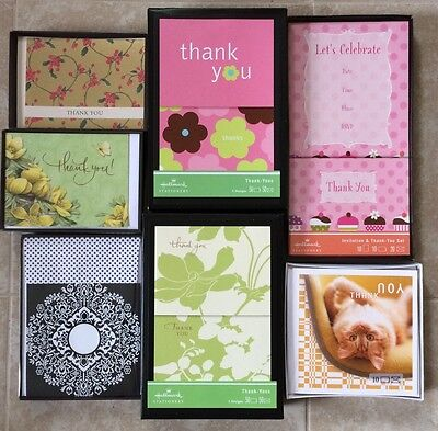 Boxed Hallmark Greeting Cards   Blank  Thank You  Invitations  Your Choice