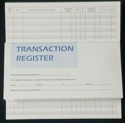 Checkbook Transaction Registers 2021 2022 2023 Bank Deposit Debit Book Record