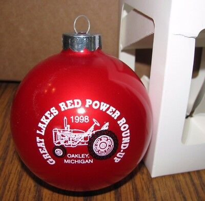 IH International Tractor Great Lakes Red Power Round Up 1998 Christmas Ornament ()