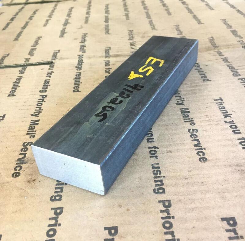 """1 X 2 Flat Steel Bar Blacksmith Bench Welding Press Plate Weight 8"""" Long"""