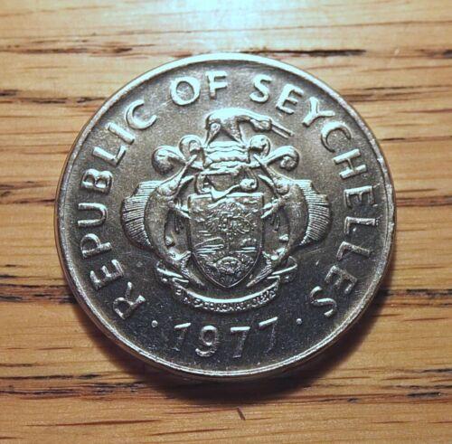 SEYCHELLES ISLANDS-1977 - 1 RUPEE, TRITON CONCH - NICE DETAILS - KM#35  ITM