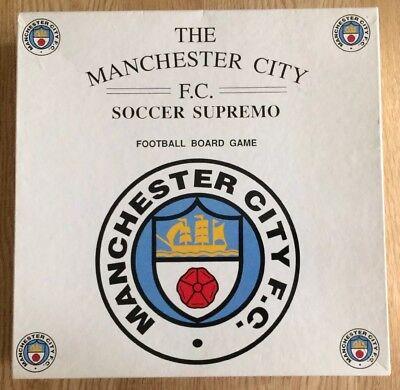 Supreme Games - Manchester City Soccer Supremo Board Game (1992) Complete