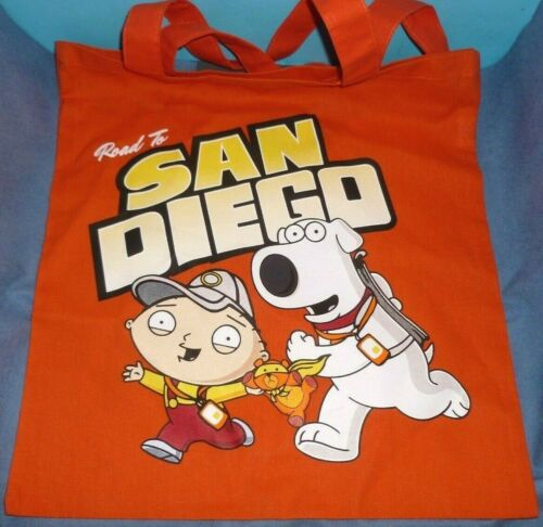 Family Guy Road to San Diego Brian & Stewie Tote Bag - SDCC 2018 Limited Promo