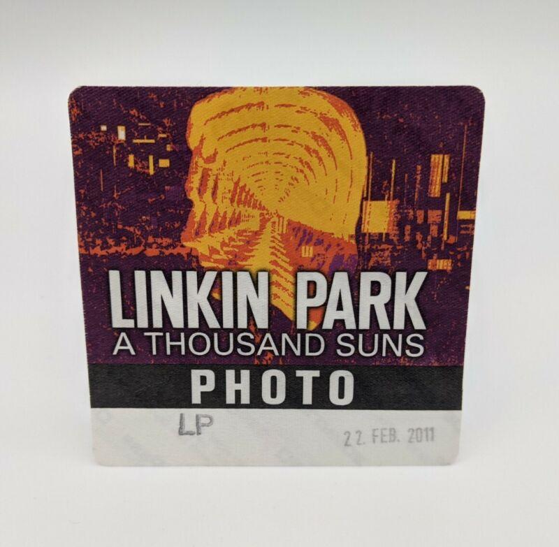 LINKIN PARK Backstage Pass World Tour Unused Satin Photo VIP