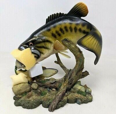 Danbury Mint Swift Surprise Largemouth Bass Fish George Kruth Sculpture KS21
