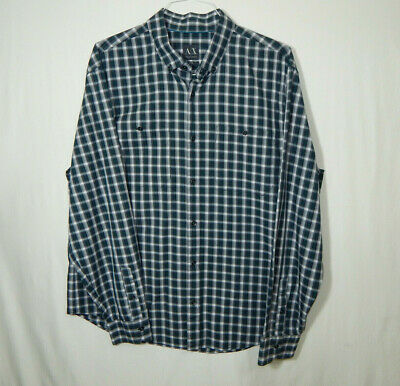 Armani Exchange Long Sleeve Oxford Dress Shirt Size EXTRA LARGE XL Mens (Armani Exchange Mens Wear)