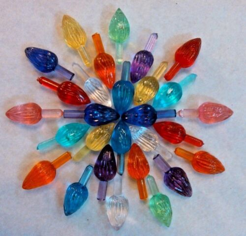 27 Vintage  Extra Large Twist Bulbs Ceramic Christmas Tree Lights Replacements