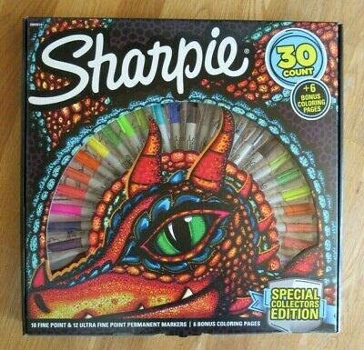 Sharpie 30 Count Set Special Collectors Edition Markers Coloring Pages Artwork