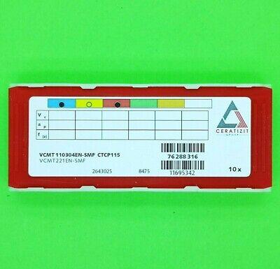 CERATIZIT VCGT 110302FN-25P H210T  Wendeschneidplatten 10 Stück NEU