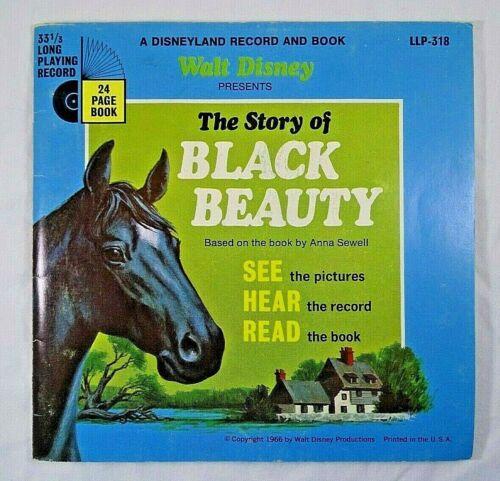 Disney Vintage Record and Book: Story of Black Beauty (1966) #318