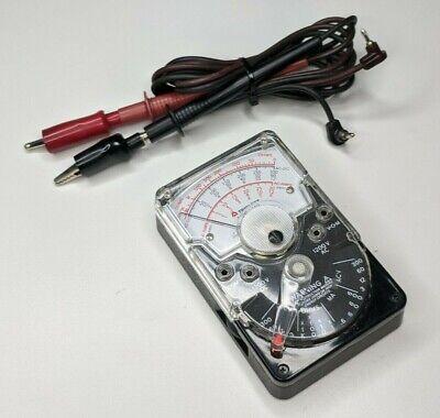 Triplett No. 310 Type 9 Vom Multimeter W Leads - Vintage Voltmeter