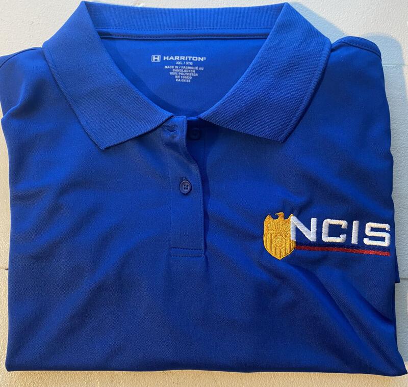 "Official ""NCIS"" Naval Criminal Investigative Service Casual Golf Shirt Blue 3X"