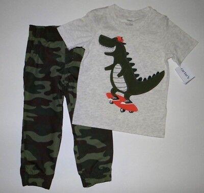 Baby boy clothes, 4T, Carter's Dinosaur top, pants/CLEARANCE SALE - Clearance Boys
