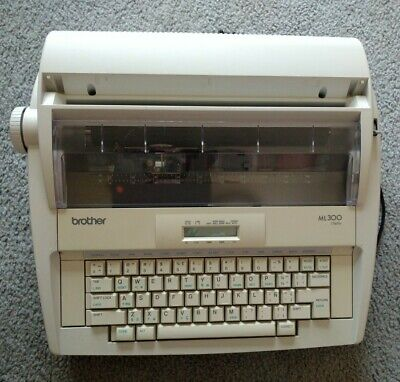 Brother Ml300 Display Portable Electric Typewriter Tested