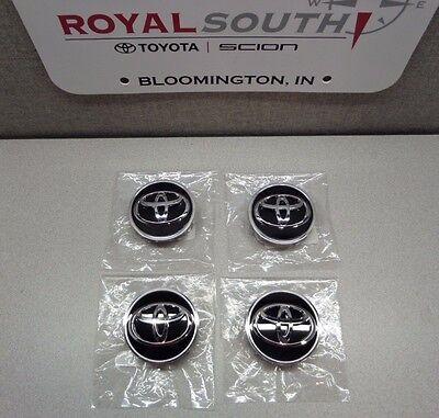 Toyota Avalon Camry Rav4 Alloy Black Wheel Center Cap Set Genuine OE