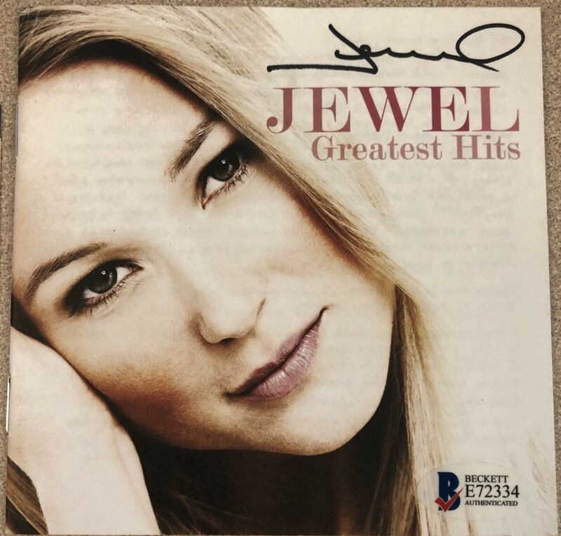 JEWEL Greatest Hits CD with Autographed CD Booklet Beckett Authenticated